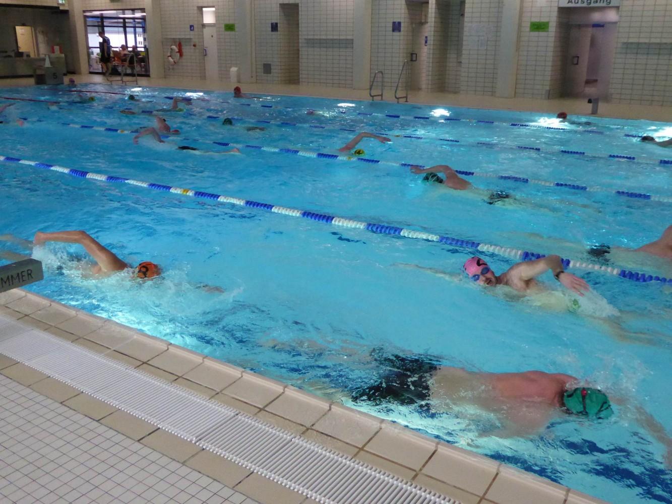 Steifen beim schwimmen
